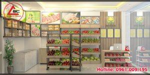 Thiết kế cửa hàng hoa quả nhập khẩu tại Sơn Tây