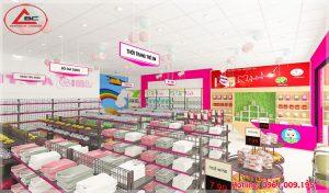 Thiết kế cửa hàng mẹ và bé – Chị Thảo Phúc Yên