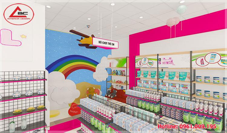 Thiết kế cửa hàng mẹ và bé