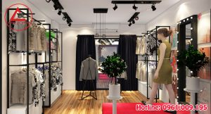 Thiết kế cửa hàng thời trang bán online nhỏ xinh