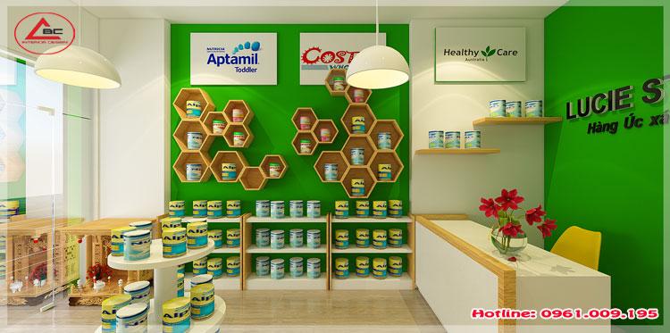 Thiết kế cửa hàng thực phẩm chức năng xách tay