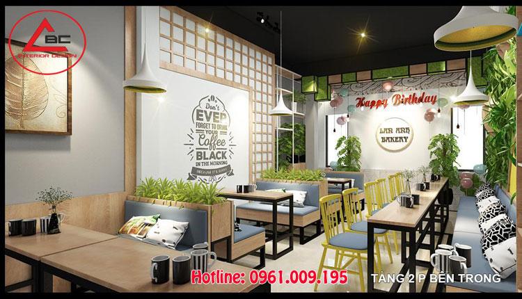 thiết kế quán cafe trà sữa