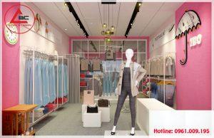 Thiết kế shop quần áo nữ nhỏ đẹp tại Đông Anh
