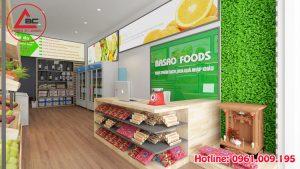 Thiết kế shop thực phẩm sạch, hoa quả nhập khẩu