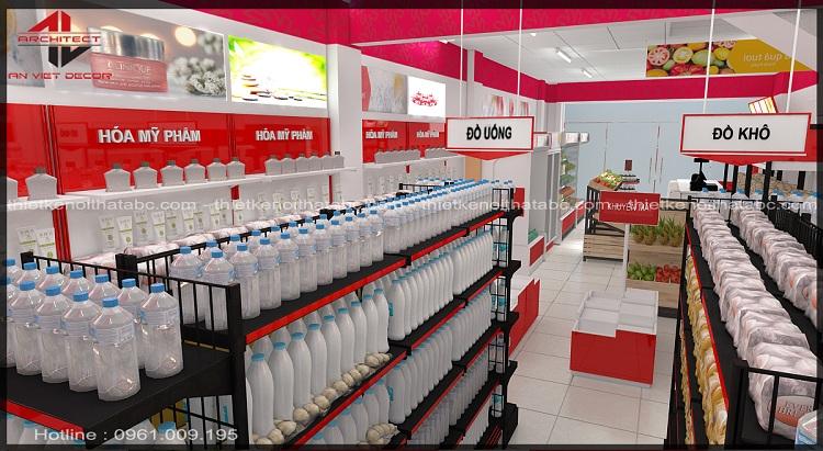 Thiết kế siêu thị mini TMS Mart Phúc Yên