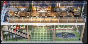 Thiết kế quán cafe ngoài trời đẹp tại Quảng Ninh