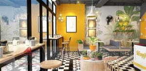 Mẫu thiết kế quán cafe Bon Appetit 60m2 tại Hà Nội