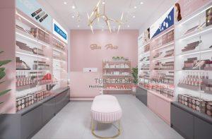 Thiết kế shop mỹ phẩm nhỏ hiện đại 30m2 tại Hà Tĩnh