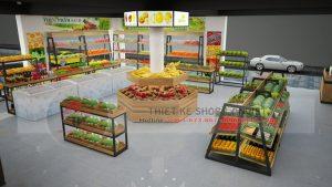 Mẫu thiết kế shop bán thực phẩm sạch 60m2 tại Hà Nội