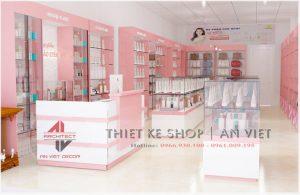 Thiết kế shop mỹ phẩm 40m2 tại Hà Nội
