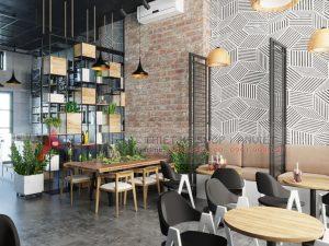 Thiết kế quán cafe phong cách Scandinavian 80m2