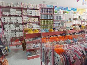 Thiết kế siêu thị mini đồ chơi, bỉm sữa cho trẻ em 180m2