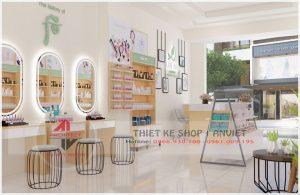 Thiết kế cửa hàng mỹ phẩm 60m2 tại Hưng Yên