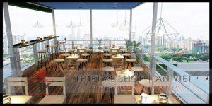 Thiết kế tiệm trà chanh Bụi Phố 80m2 ở Bắc Giang